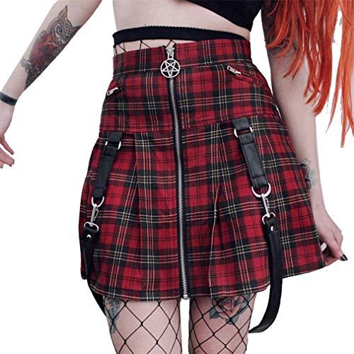 Mujer Falda Corta Gótico Harajuku Estilo Falda Cintura Alta Slim...
