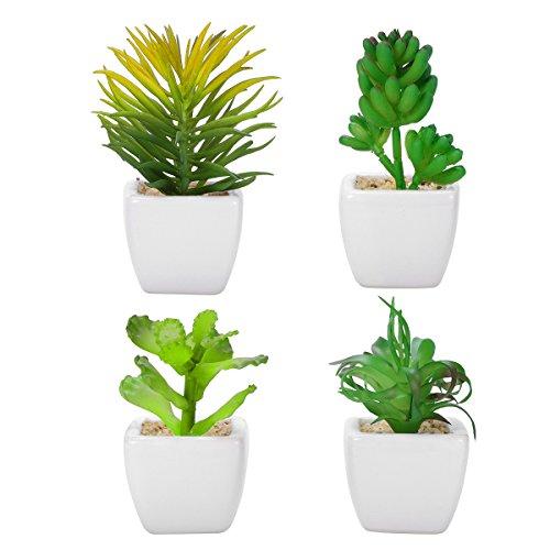 WINOMO 4pcs falsas plantas simulación falsa
