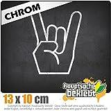 Heavy Metal 10 x 13 cm In 15 Farben - Neon + Chrom! JDM Sticker Aufkleber