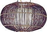 Guru-Shop Deckenlampe/Deckenleuchte Cadiz - in Bali Handgemacht aus Naturmaterial, Bambus, Baumwolle, 20x35x35 cm, Dekolampe Stimmungsleuchte
