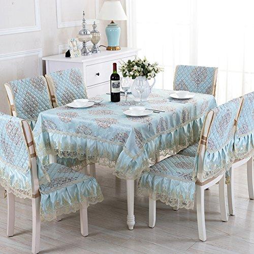 Rechteck-matte Stuhl (QIANG LOVE European-style Tischdecken,Stoff-tischdecke,Polster Stuhl Tisch Tischdecke,Rechteck Tischdecke,Home Runde Tischdecke-E 130*180cm(51x71inch))