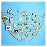 Dremisland  Foto appeso display con 40 clip - Rete da pesca decorazione da parete - multi foto organizer & collage Artworks  dormitorio camera da letto decorazioni di Natale