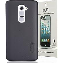 Dolextech Calidad cáscara de la Funda case cover protectora de alta dura para LG G2 smartphone 100% NILLKIN(Negro)
