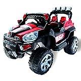 Elektro Kinderauto Jeep 801 mit 2 x 25 Watt Motor Elektro Kinderauto Kinderfahrzeug in mehreren Farben (schwarz/rot)