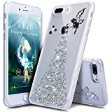"Coque iPhone 7 Plus,Étui iPhone 7 Plus,iPhone 7 Plus Case,ikasus® Coque iPhone 7 Plus Silicone Étui Housse Téléphone Couverture TPU avec Bling Glitter Sparkle Brillant étincelle Étoile l'ange Fille Star Angel girl Modèle Ultra Mince Premium Semi Hybrid Crystal Clear Flex Soft Skin Extra Slim TPU Case Coque Housse Étui pour Apple iPhone 7 Plus (5.5"") - Ange:Argent"