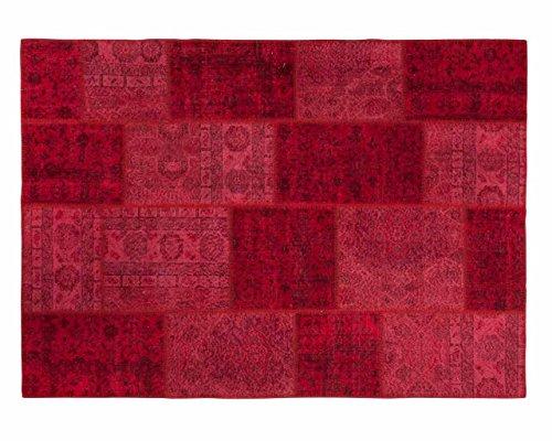Sukhi Merve: Red Patchwork persas recoloured Alfombras Tiendas Online, Extra Grande, Libre del envío (80cm x 100cm / 2' 7.5'' x 3' 3.4'')