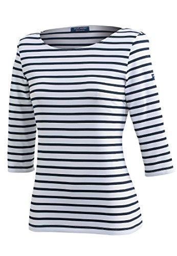 Saint James Shirt 3/4 Arm Garde Cote III R, Größe:50 (T 52), Farben:Weiß-Blau(0S)