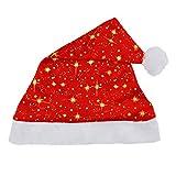 Chapeau de Santa, Malloom® Chapeau rouge de fête de Noël pour le costume du père Noël (B)