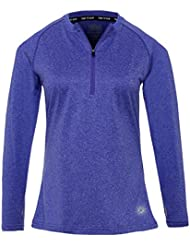 Camiseta Térmica y Ligera de Running, Cuello Con Cierre de Cremallera Para Mujer de Time to Run 44 Iriz Azul
