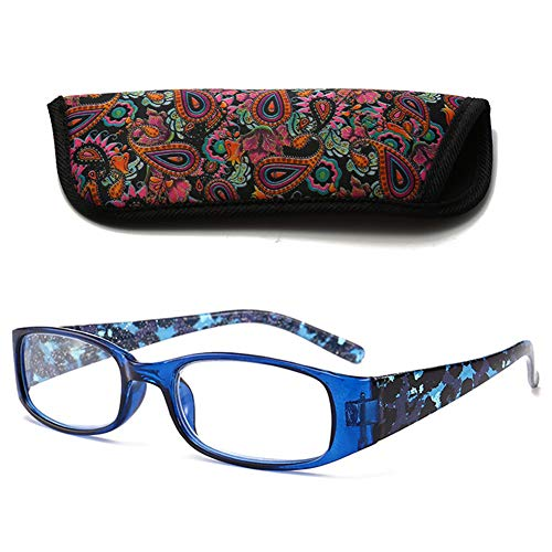 VEVESMUNDO® Lesebrillen Breites Gestell Damen Herren Klar Groß Rechteckig Modern Vintage Vollrandbrille Lesehilfe Sehhilfe Brille 1.0 1.5 2.0 2.5 3.0 3.5 4.0 (1 Stück Blau, 1.5)