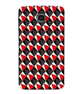 EPICCASE traingle Mobile Back Case Cover For Motorola Google Nexus 6 (Designer Case)