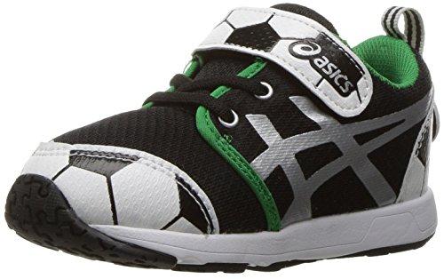 ASICS Boys' School Yard TS Running Shoe, Soccer Black/Silver, 5 M US Toddler