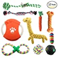 ONBET 10pcs Pet Dog Toys Durable Pet Rope Chew Toy Set Non-toxic Material Vibrant Colors Attractive Design for Dogs