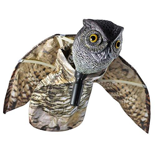 seicosy on Chouette Hibou dissuasif avec ailes – réaliste Chasser, oiseaux, rongeurs, insectes nuisibles, épouvantail Mobile – Antiparasitaire