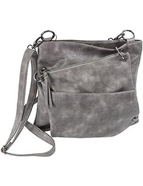 Jennifer Jones Taschen Damen Damentasche Handtasche Schultertasche Umhängetasche Crossbody Bag 2 in 1 in Versch...