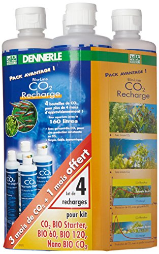 Dennerle Nachfüllpackung Bio CO2 für 120Tage, 4Flaschen