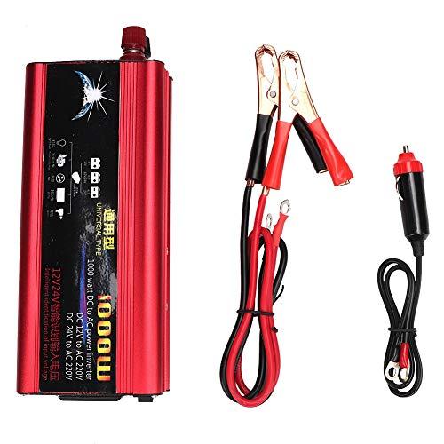 1000 Watt Auto Wechselrichter Geändert Sinus DC12V / 24V Zu AC220V Konverter Ladegerät USB Stecker Port -