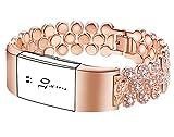 Gocybei Ersatzarmband für Fitbit Charge 2 Fitnesstracker, hochwertiges Armbandzubehör, ohne Tracker, B02 -Rose Gold