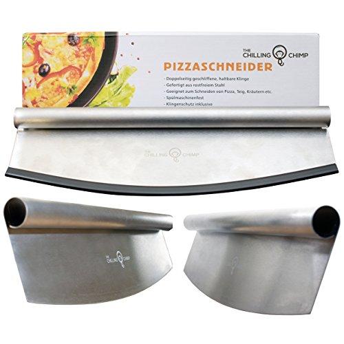 Premium Pizzaschneider - Wiegemesser / Pizzamesser - beidseitig geschliffene 35cm Klinge
