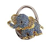 Tisch Klappbar Handtasche Tasche Strass Blauen Elefanten Aufhänger Hangbag Hakenhalter