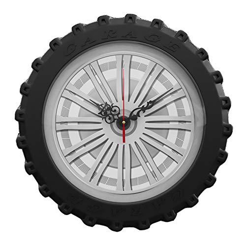 Reloj de Pared Montado en la Pared Viento Industrial Creativo Mudo, Adecuado para Cocina de casa Grande Café Bar,A