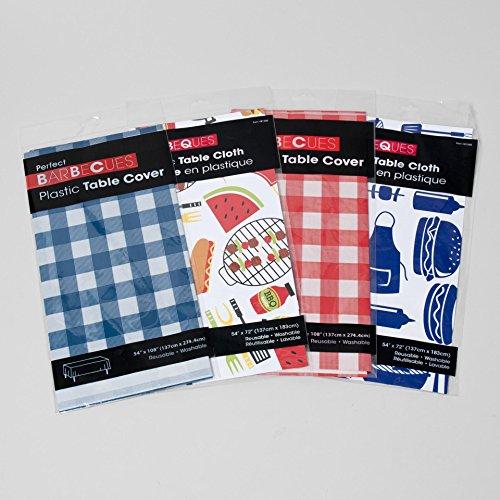 Set von 4schwarz Ente Marke Party und Urlaub Motto-137,2x 274,3cm Tabelle beinhaltet Seasonal Designs, Vinyl, BBQ - Picnic, 54 Inches x 108 Inches (Fourth July Bbq Of)