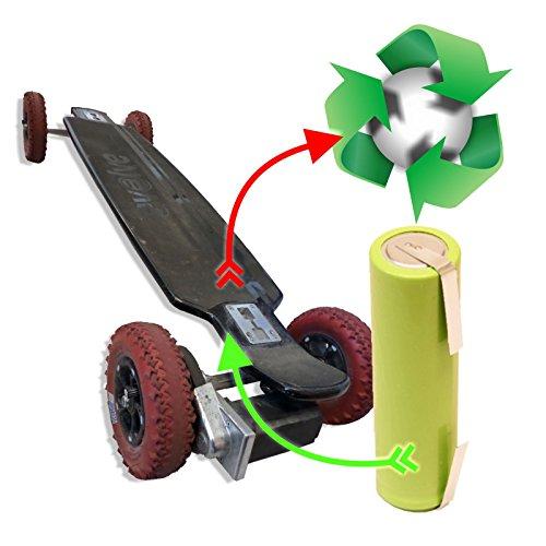 Zellentausch Refresh Akkutausch für elektrisches akkubetriebendes EVOLVE Longboard/ Skateboard 36 V 14,5Ah