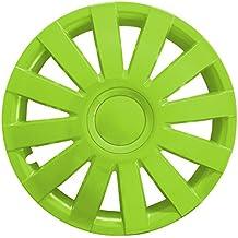 (Farbe & Größe wählbar) 4er Set 13 Zoll AGA Schwarz-Grün Radkappen Radzierblenden Radabdeckungen (universal)