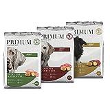 Primum | 15 kg | Halbfeuchtes Trockenfutter für Hunde | getreidefrei | Soft Mix mit Kartoffel | Extra viel Fleisch | Optimal verdaulich | Herstellung in Deutschland
