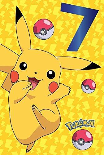 Pokemon 7. Geburtstagskarte Pikachu
