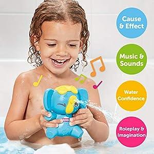 Toomies E72815C Tomy Sing & Squirt - Bañera de Elefante para niños y niñas, Juguete sensorial para bebés y niños Mayores de 18 Meses, Multicolor