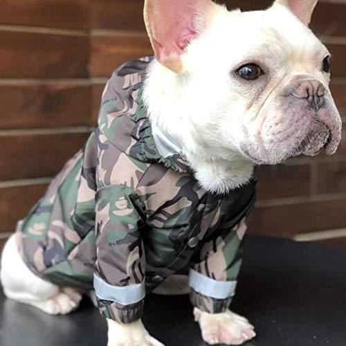 Französische Bulldogge Kostüm - Gulunmun Regenjacken für Hunde Hunderegenmantel Französische Bulldogge Kleidung Mops Kleidung Haustier Regenjacke wasserdichte Kleidung für Hund Reflektierende Kostüm Bekleidung @ M