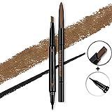Pinkiou Sopracciglio Matita Eyeliner Pen 2 In 1 Rotatable Sopracciglio Color Shaping Pen (Caffè)