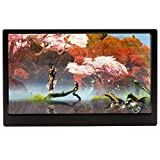 KKmoon 13Inch IPS LCD Monitor Portable Ultra Slim Gaming Monitor with Dual HDMI Ports Support 1080 Resolution for PS4/ Xbox one/ Laptop/ Camera Black