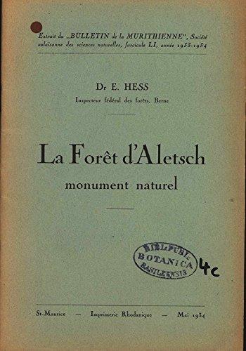 La Forêt d'Aletsch - monument naturel.