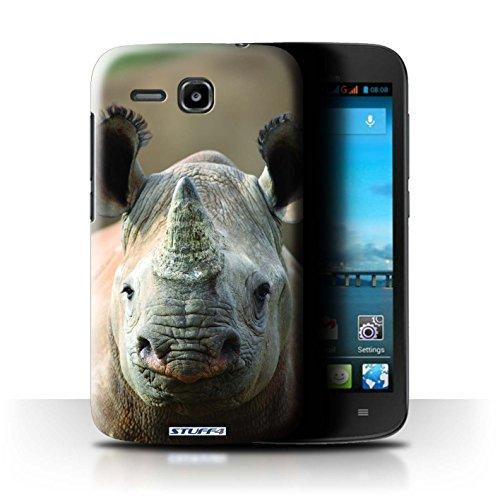 Stuff4 Hülle / Hülle für Huawei Ascend Y600 / Nashorn Muster / Wilde Tiere Kollektion
