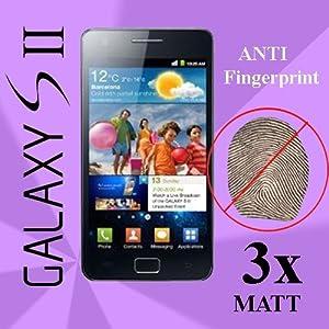 3x Schutzfolie MATT Samsung i9100 Galaxy S2 SII LCD Display Displayschutz Folie Premium Qualität + 3 Lagen System + Blitzversand