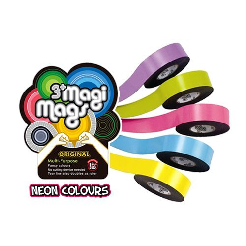 3 M, NEON FARBEN, SELBSTKLEBENDES MAGNETBAND MAGNET BAND, SEHR STARK 19 MM