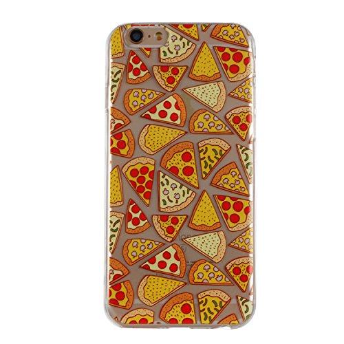 iPhone 6S Hülle, Voguecase Silikon Schutzhülle / Case / Cover / Hülle / TPU + PC Gel Skin für Apple iPhone 6/6S 4.7(Grüne Blätter) + Gratis Universal Eingabestift Pizza