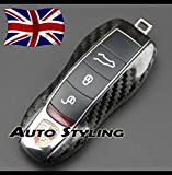 Carbon Fibre Key Cover For Porsche Remote Case Shell Housing Side Painted Trim Boxster Carrera Cayenne Cayman Macan Panamera Spyder 981 718 991 918 911 GTS S PDK D TD Turbo TDI GT4 4S V6 V8 2.0 2.7 3.0 3.4 3.6 3.8 4.1 4.2 4.8 24v Platinum Edition Tiptronic Hybrid AWD Hatchback Coupe Estate Cabriolet Convertible Petrol Diesel 2d 5d Automatic Manual Semi Auto (Carbon Fibre Effect)
