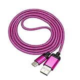 Samsung Galaxy S8 / S8 Plus, Tefamore 2MUSB-C USB 3.1 Type C Connecteur mâle pour type A Câble de données Galaxy S8 (Rose vif)