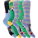 Childrens/Kids Boys Long Wellington/Welly Boot Socks (Pack Of 5)