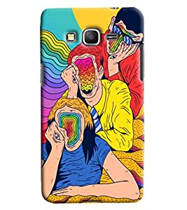 Blue Throat Dumb Faces Of Three Printed Designer Back Cover For Samsung Galaxy Grand Prime