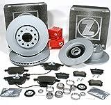 Zimmermann Bremsscheiben Coat Z + Bremsbeläge vorne hinten + Radlager für hinten