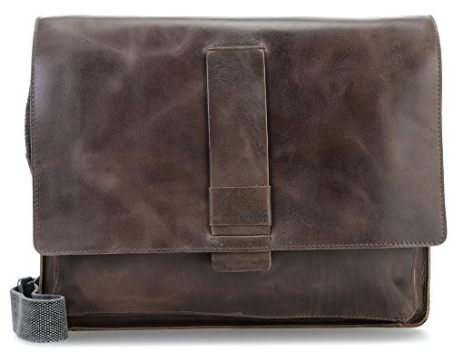 Strellson Epping Messenger Lhf Businesstasche Cognac Grey_greybrown, Grau