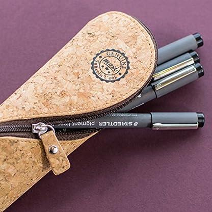 51epGqoGgdL. SS416  - Estuche de gafas delgadas, estuche de lápices y cartuchera ~ Estuche suave de corcho portugués, estilo vintage, hecho a mano