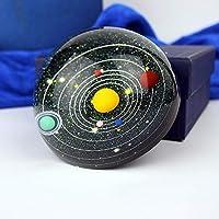 Craftscmq Escultura Estatua Galaxy 8 Planetas Sistema Solar Planeta hemisferio de Cristal pisapapeles decoración astronomía educación Regalo