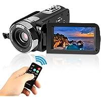 PowerLead P301 HD 1080p IR vision de nuit 24,0 Mega pixels appareil photo numérique amélioré 16X Zoom DV 2.7 TFT LCD HDV Caméscope Rotation écran tactile enregistreur vidéo (Noir)