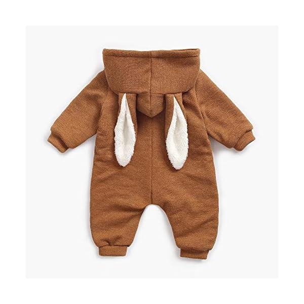 Mitlfuny Niños Niñas Monos de Manga Larga para Bebés Invierno Caliente Felpa Mameluco de Cremallera Grueso Más… 2