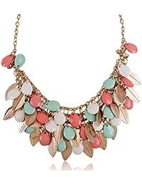 Shining Diva Fashion Multicolor Metal Choker Necklace for Women & Girls